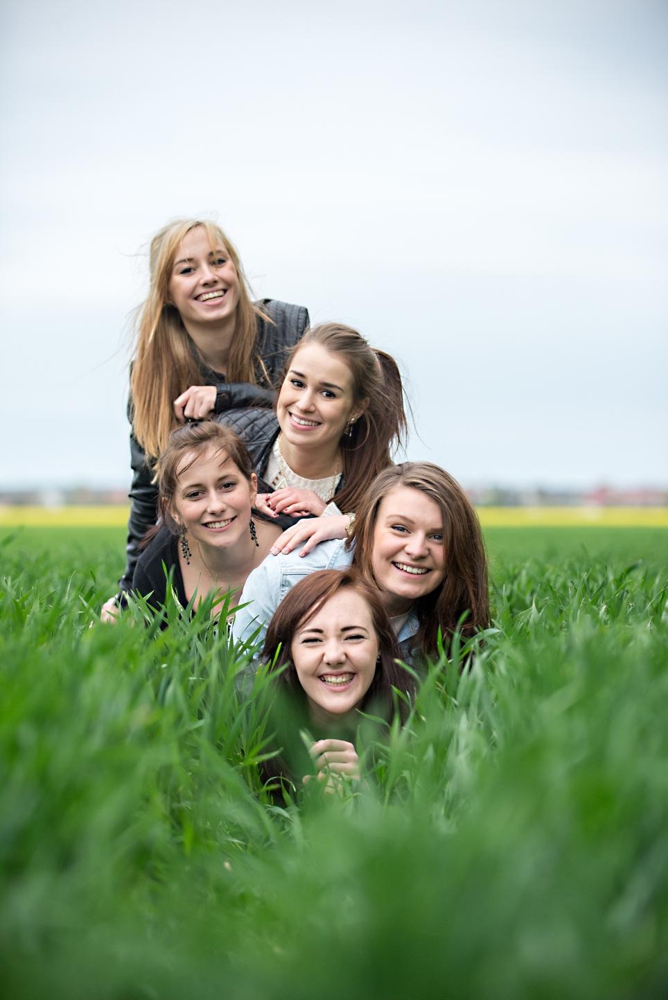 Lea, Laura, Cecile, Lisa und Jana