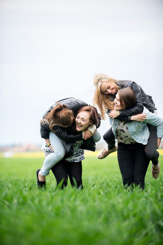 Lea, Laura, Cecile und Jana